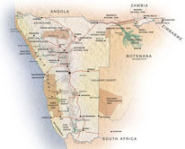 Map of Remote Namibia Safari