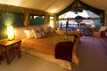 The rooms at Jacana Camp are situated so as to allow stunning views over the Okavango Delta wilderness