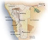 Map of Exclusive Namibia Adventure