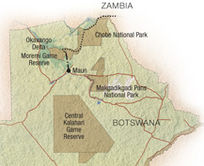 Map of Northern Botswana Safari