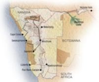 Map of Private Namibia Safari