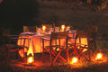Enjoy delicious meals served by lantern light whilst listening to the night sounds of the Botswana bush