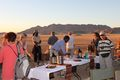 The end to another memorable day on safari in Namibia - time to enjoy a sundowner.